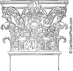 corinthian, portico, de, octavia, vindima, engraving.