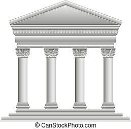 corinthien, grec, temple