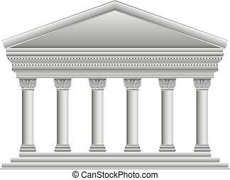 corinthien, temple, grec