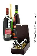 Cork and wine opener