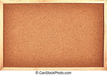 cork board as background