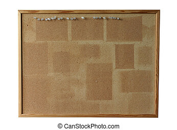 cork board - isolate - empty cork board - isolated