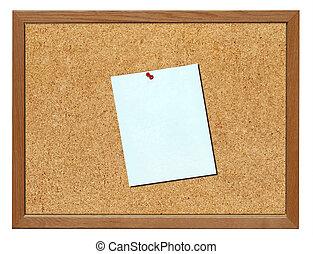 Cork board, isolated