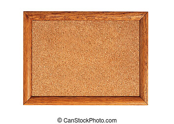 cork-board isolated on white