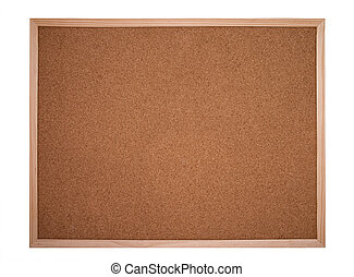 cork board or bulletin board - cork board framed with wood...