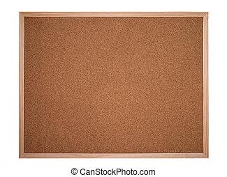 cork board or bulletin board - cork board framed with wood ...