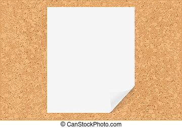 Cork Board With Paper