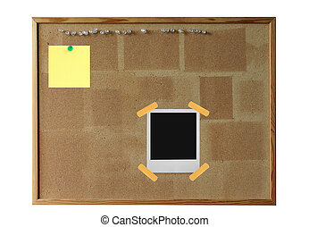 cork board with pola