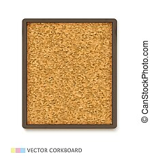 Cork board with wooden frame - Cork board with dark wooden ...
