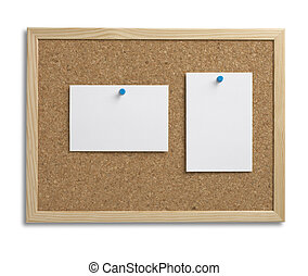 cork bulletin notice board copy space with clipping path - a...