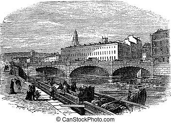 Cork in Munster, Ireland, vintage engraving - Cork in...