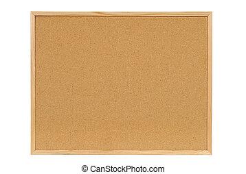 Cork notice board - Cork notice or bulletin board with wood...