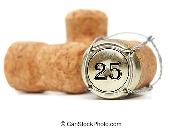 Cork on white background. 25