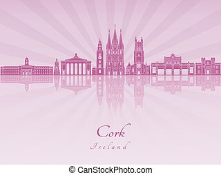 Cork skyline in purple radiant orchid