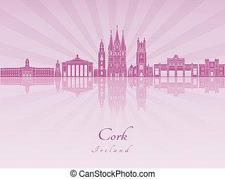 Cork skyline in purple radiant orchid
