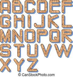 cork texture alphabet