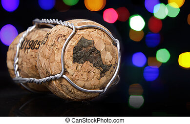 Cork with the shape of Ontario burnt in.(series) - Champagne...