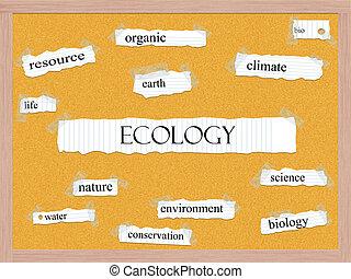 corkboard, ökológia, fogalom, Szó