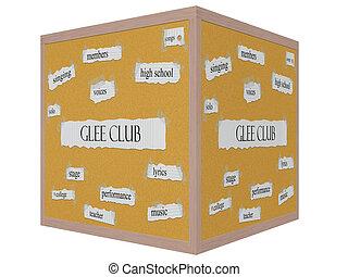 Corkboard 3D cube Word Concept