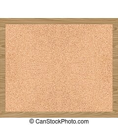 a nice large image of a cork board with frame