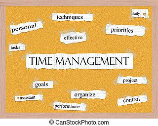 corkboard, amministrazione, concetto, parola, tempo