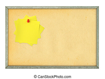 corkboard and adhesive notes - corkboard and pinned adhesive...