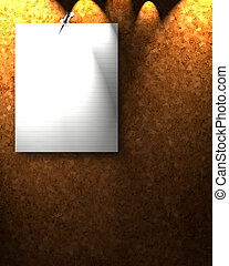 corkboard texture with a memo on it