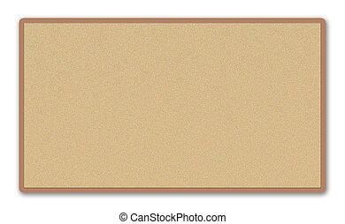 Corkboard - Image of a blank corkboard on a white...