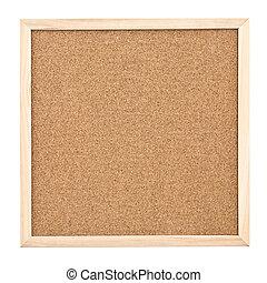 Corkboard isolated on white background