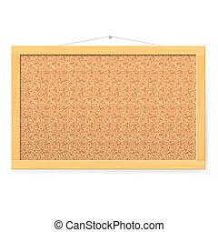 Corkboard. Realistic blank corkboard with corkboard texture