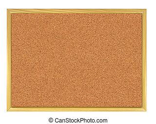 Corkboard. - Cork board isolated on white.