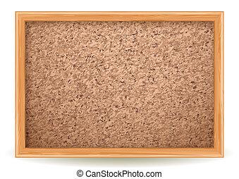 corkboard - Vector illustration - corkboard on white, EPS...