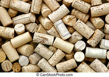 Corks - Close-up of a lot of corks.