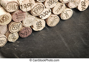 Corks of different years