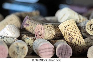Corks on a heap