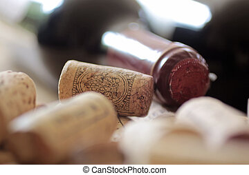 Corks on a heap