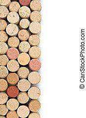 corks wine - set of wine corks isolated on white