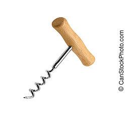 Corkscrew on white background
