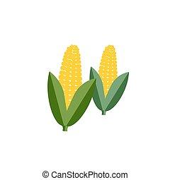 corn color icon flat vector vegetable