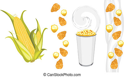 Corn flakes and popcorn products