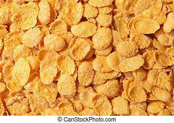 Corn - flakes close up, whole background