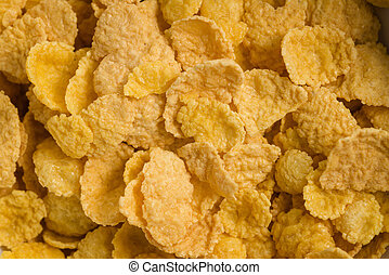 corn flakes in white bowl closeup