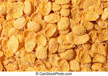 Corn - flakes close up, whole background