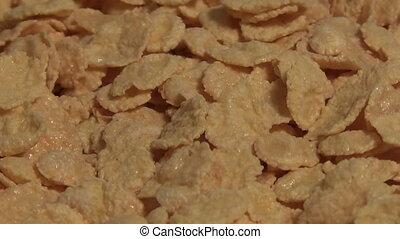 corn-flakes rotating macro