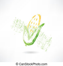 Corn grunge icon