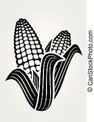 Corn icon isolated on white background.