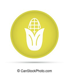 Corn icon on a circle on a white background. Vector illustration