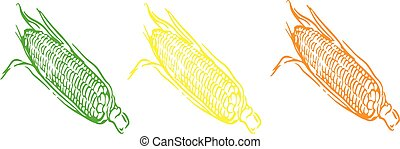 corn icon on color background
