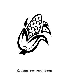 Corn icon. Vector illustration isolated on white background.