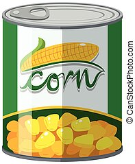 Corn in aluminum can